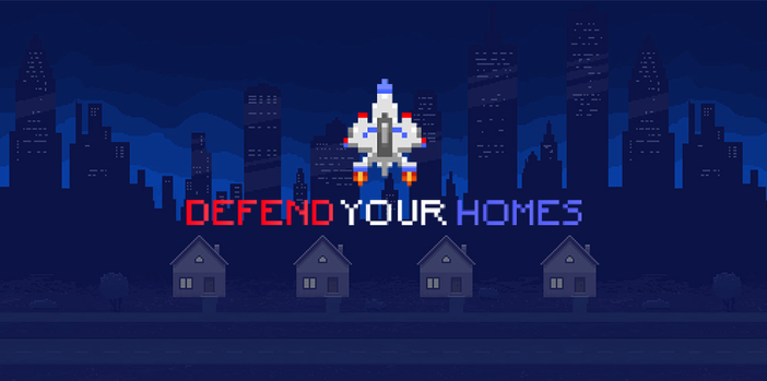 Defend Your Homes - a cross-device HTML5 game with a retro design
