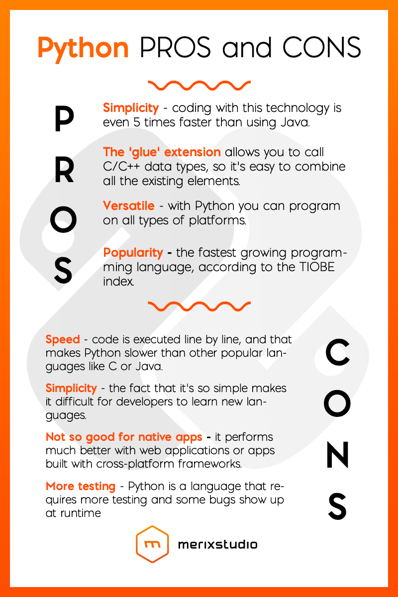 python pros and cons merixstudio