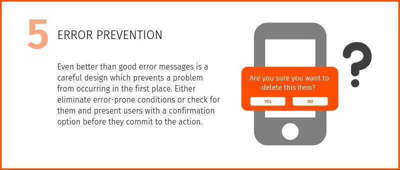 Nielsen's heuristic Error prevention
