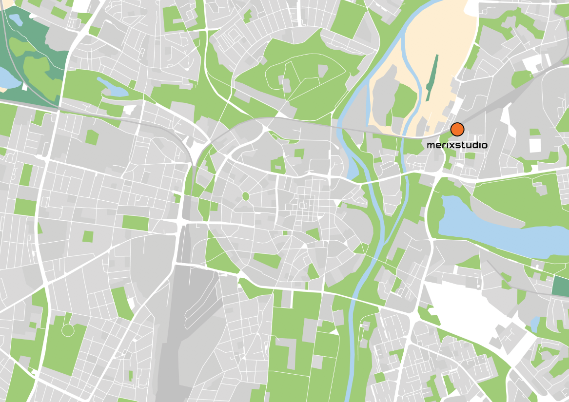 Merixstudio on the map of Poznań