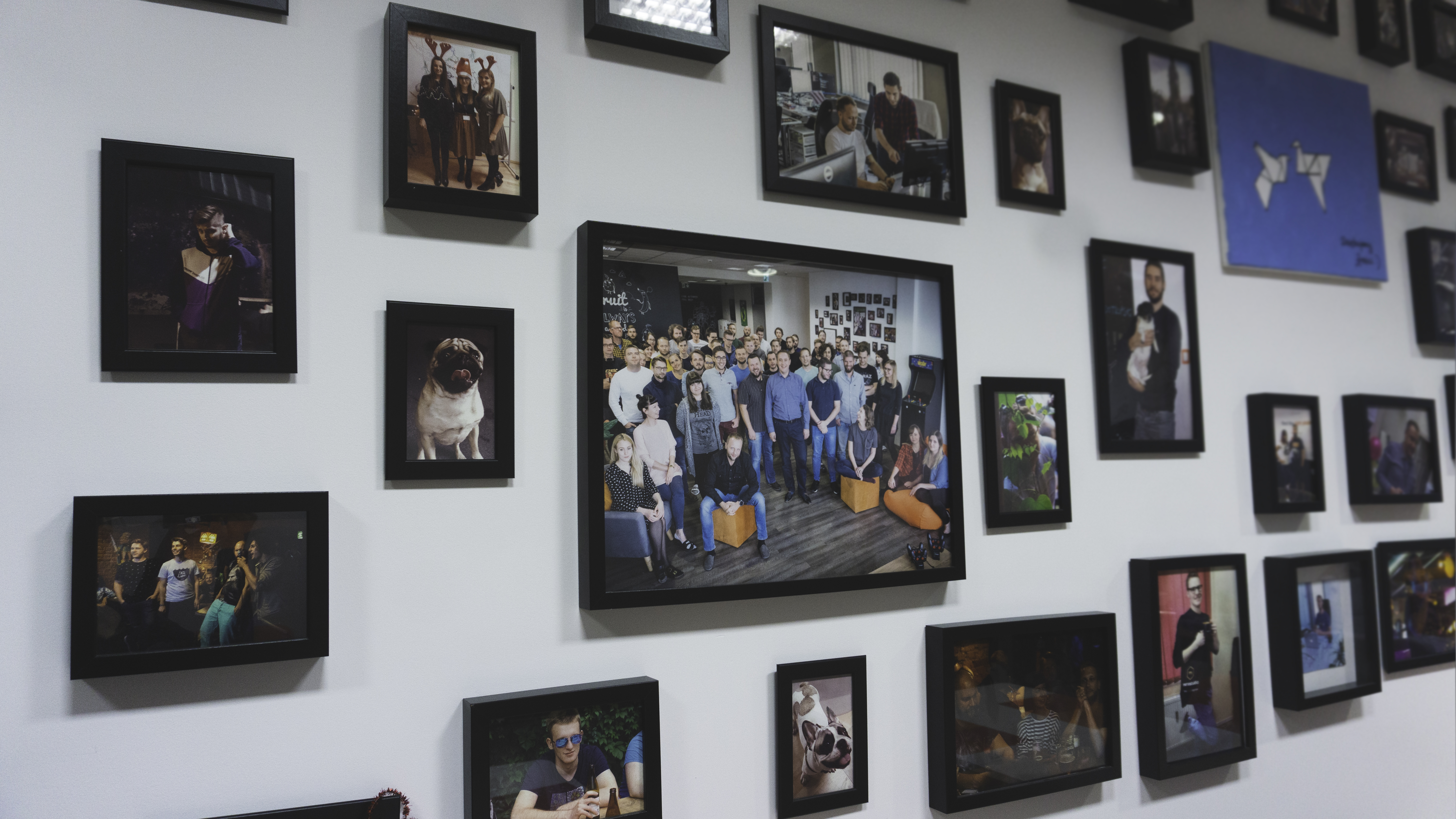 Merixstudio pictures on the wall