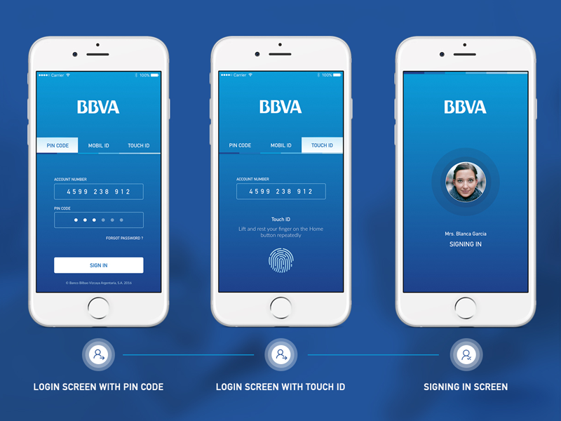 User verification screens in fintech app design