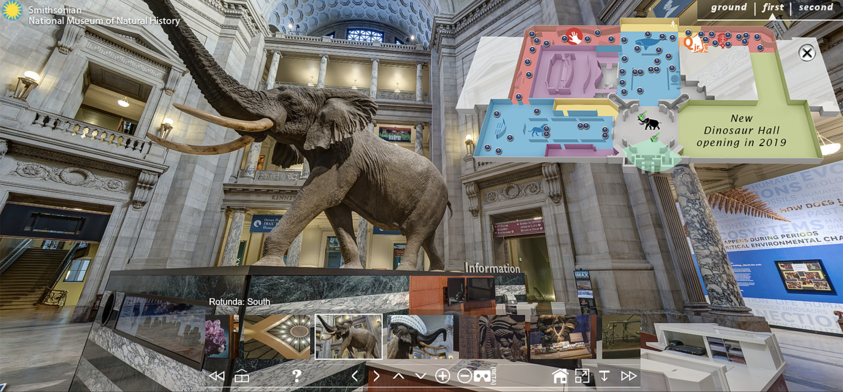 Virtual tour of the National Museum of Natural History in Washington