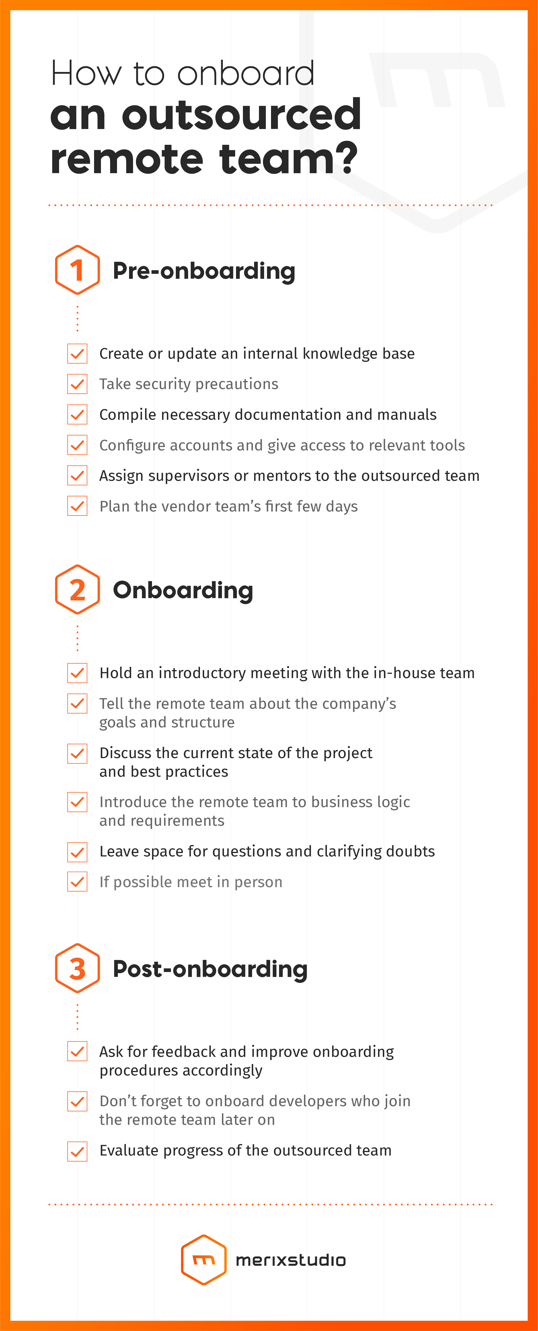 Remote team onboarding infographics
