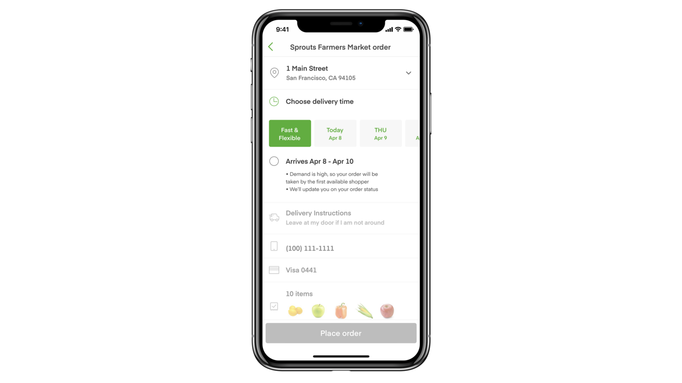 "Instacart's ""fast & flexible"" feature"