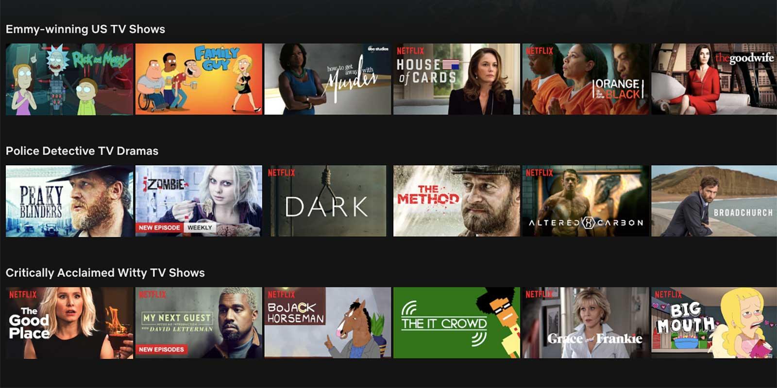 Netflix recommendation system