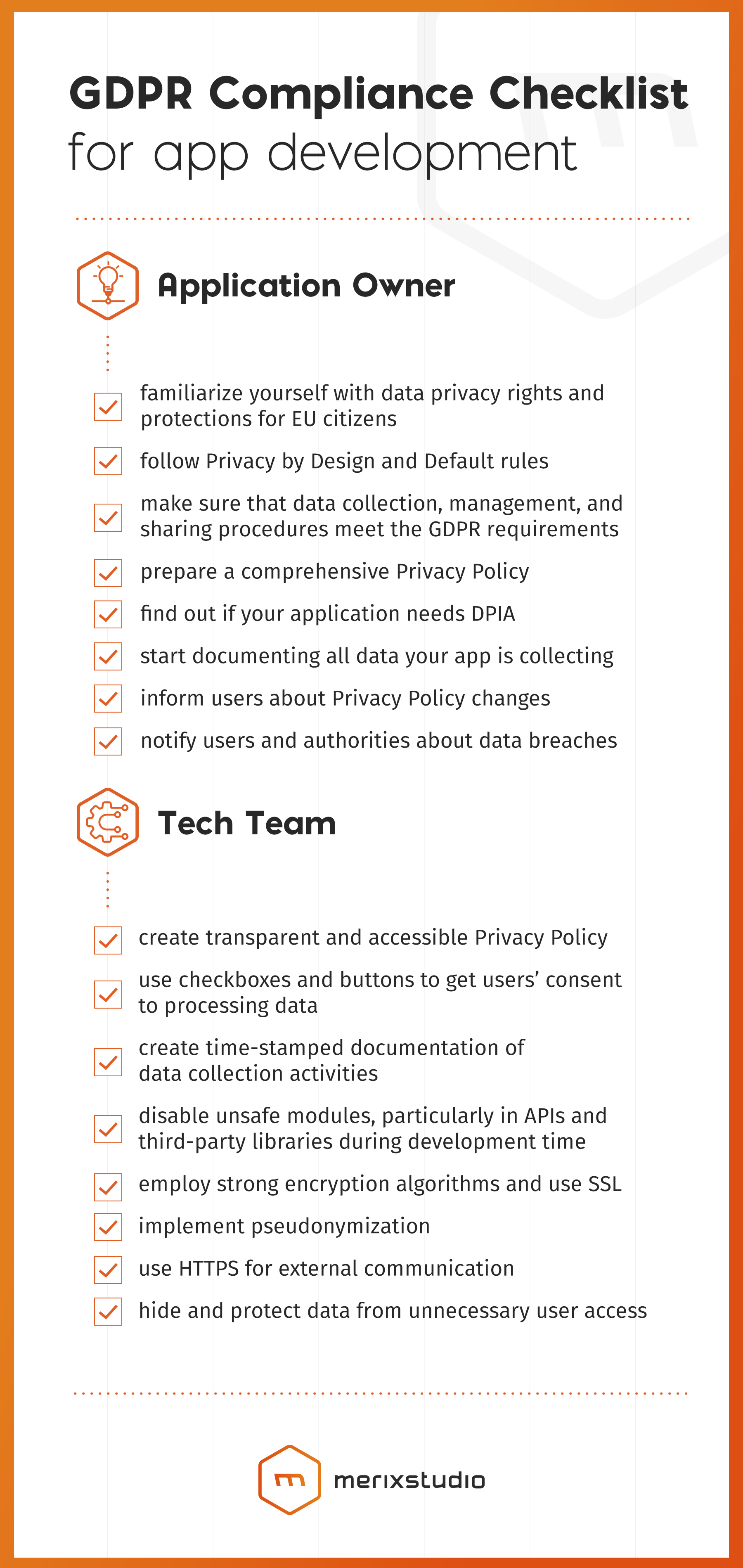 GDPR compliance checklist for software development | Merixstudio