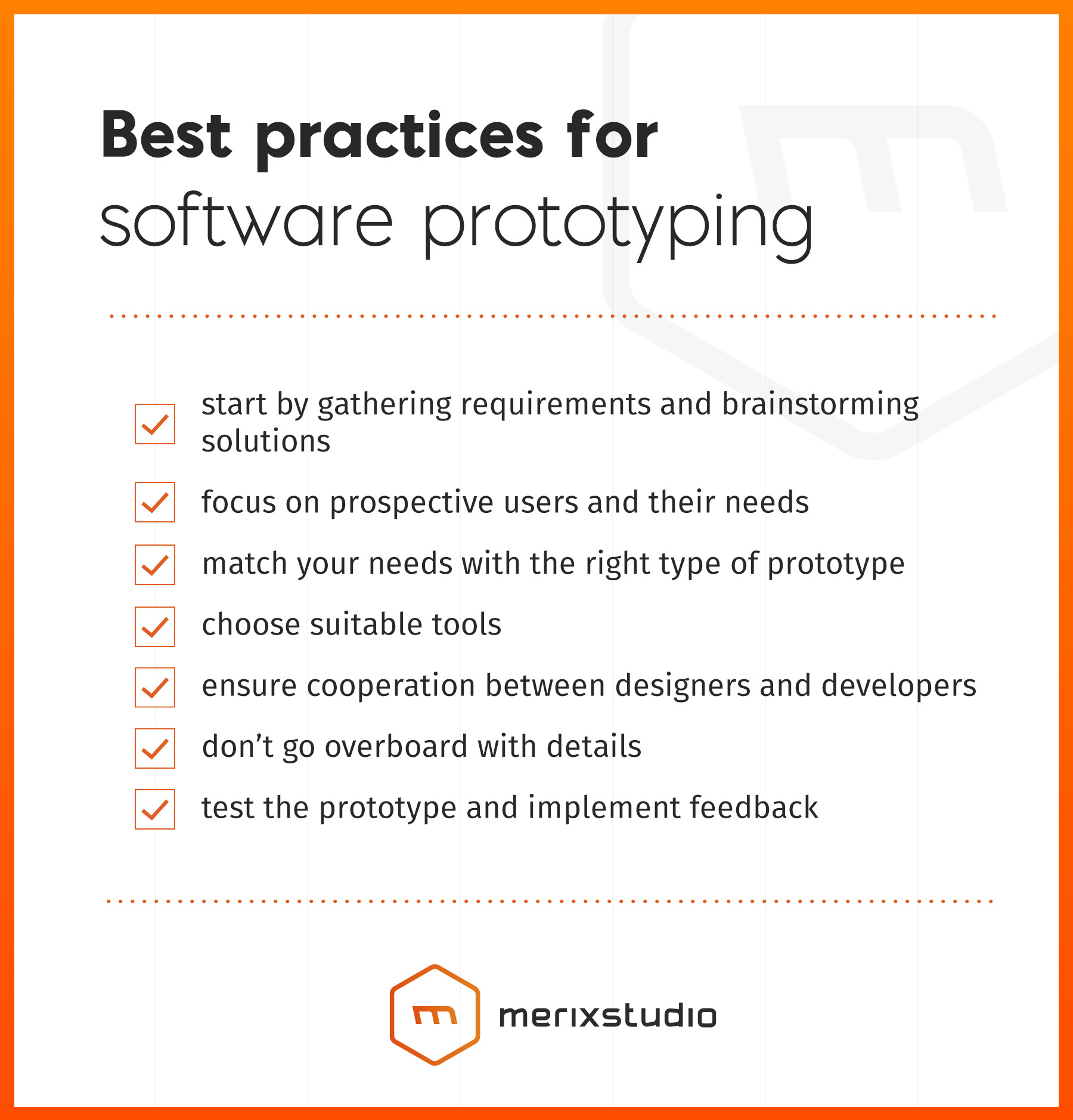Best practices for software prototyping