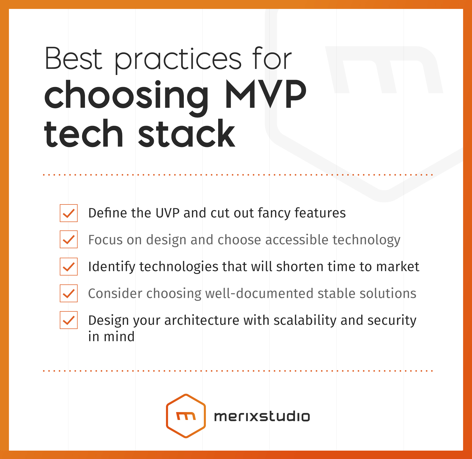 Best practices for choosing MVP tech stack