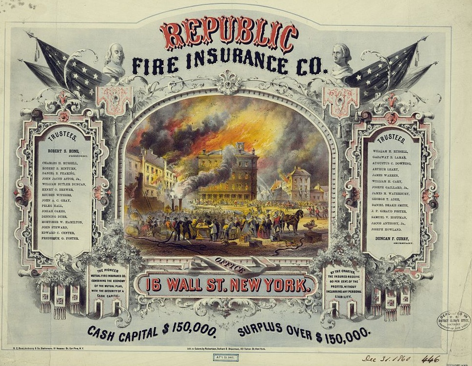 Fire Insurance old poster