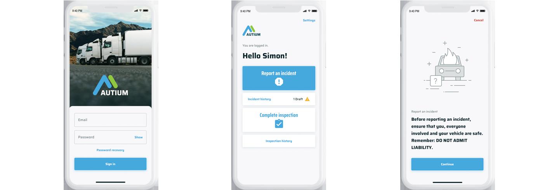Autium mobile app design