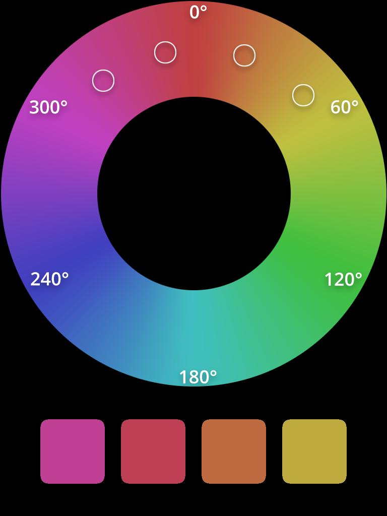 HSL analogous color scheme