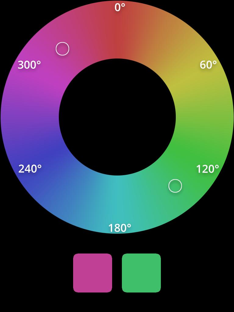 HSL complementary color scheme