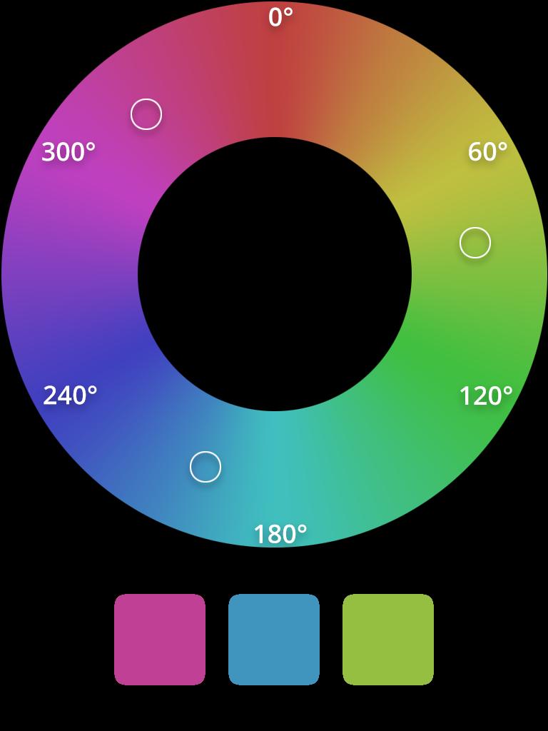 HSL triadic color scheme