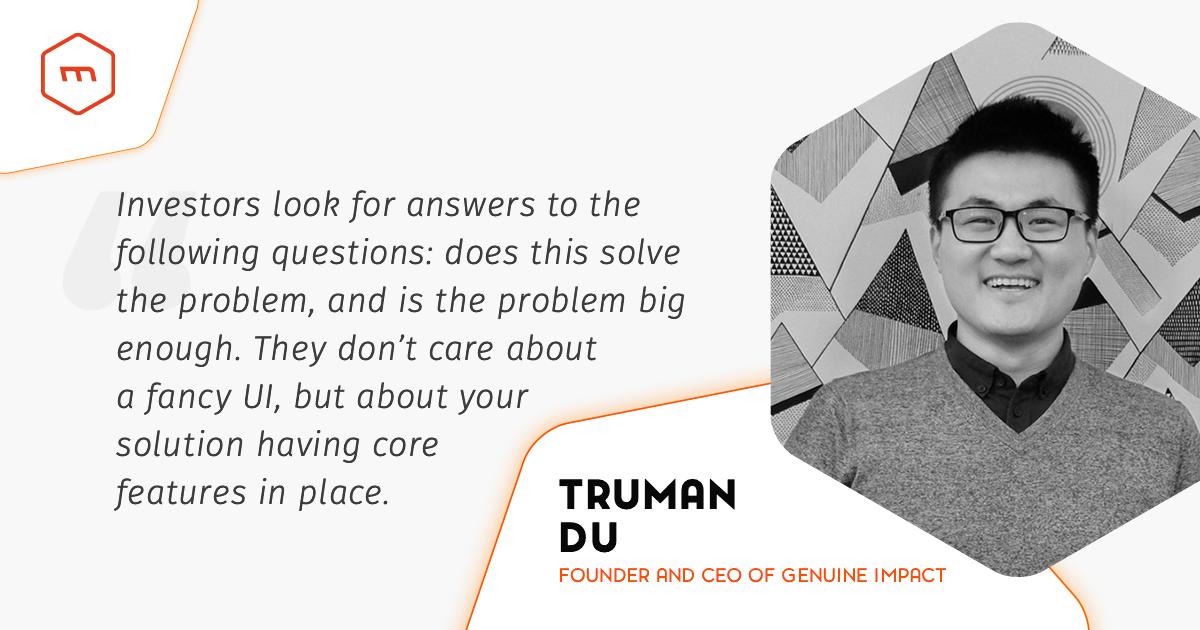 Interview with Truman Du (Genuine Impact)