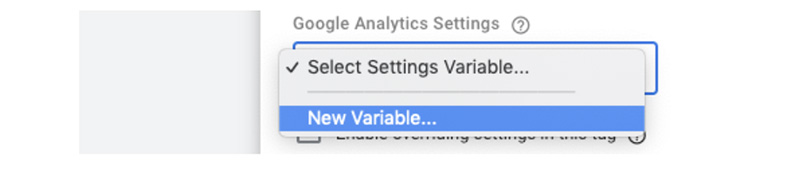 Creating a new variable in GA settings