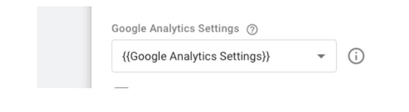 Select box in GA settings