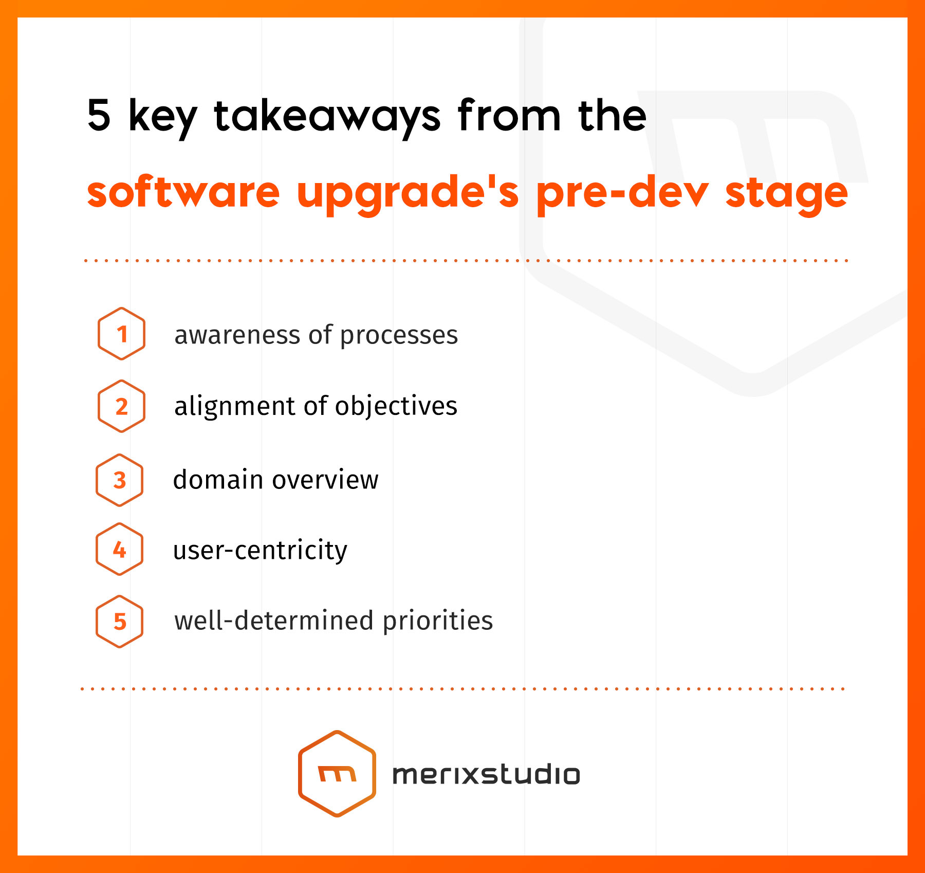 5 takeways from software upgrades pre-dev stage
