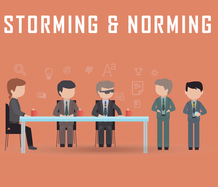 5 stages of group development in Scrum - storming and norming
