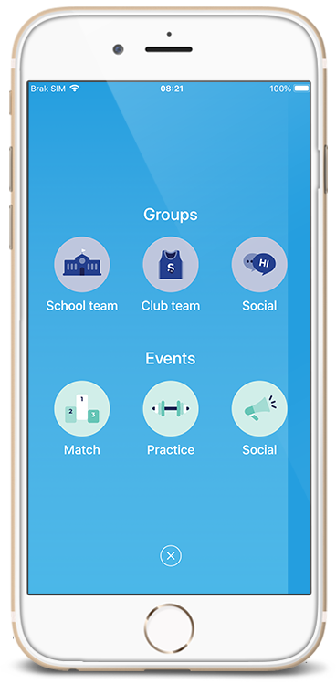 Groups/event creator view