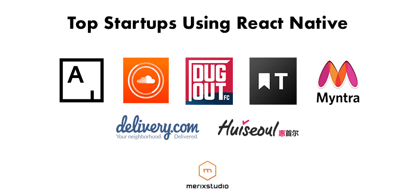 Startups which use React Native