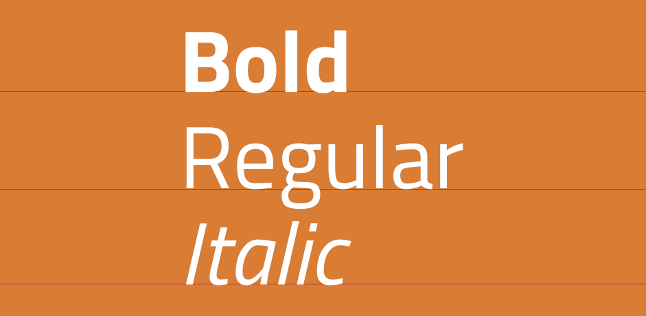 Web Desing - different variants of typefaces