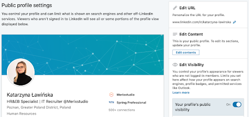How to change URL in LinkedIn Profile